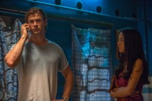 Nicholas Hathaway (CHRIS HEMSWORTH) and Chen Lien (TANG WEI) in BLACKHAT. ©Legendary Pictures/Universal Pictures. CR: Frank Connor.