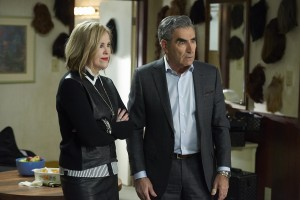 (l-r) Catherine O'Hara and Eugene Levy star in SCHITT'S CREEK. ©PopTV.