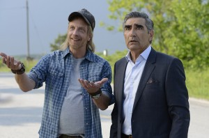 (l-r) Chris Elliott and Eugene Levy in SCHITT'S CREEK. ©PopTV. CR: Steve Wilkie.