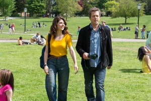 (l-r) Marisa Tomei and Hugh Grant star in THE REWRITE. ©RLJ / Image Entertainment. CR: Anne Joyce.
