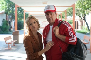 (l-r) Maria Bello and Kevin Costner star in MCFARLAND, USA. ©Disney Enterprises. CR: Ron Phillips.