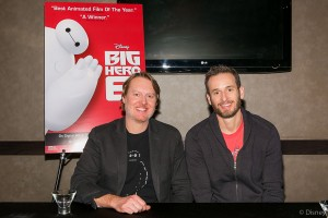(l-r) Directors Don Hall and Chris Williams at the BIG HERO 6 Blu-ray/DVD press conference held at the W Hotel in Hollywood on February 6, 2015. ©Disney. CR: Kayvon Esmaili.
