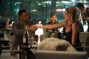 WILL SMITH stars as Nicky and MARGOT ROBBIE as Jess in FOCUS. ©Warner Bros. Entertainment. CR: Frank Masi.