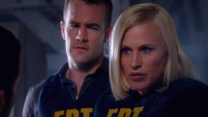 Patricia Arquette (right) and James Van Der Beek star in CSI: CYBER. ©CBS Broadcasting. CR:Monty Brinton/ CBS.