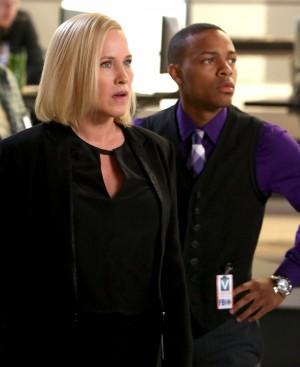 (l-r) Patricia Arquette and Shad Moss star in CSI: CYBER. ©CBS Broadcasting. CR: Monty Brinton/ CBS.