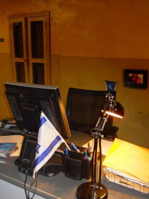 A shot of the set of the Jerusalem police station from the new USA Network show DIG. ©Lynn Barker.