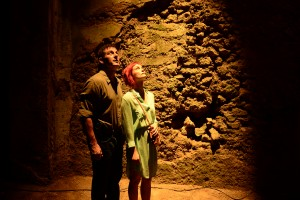(l-r) Jason Isaacs as Peter Connelly, Alison Sudol as Emma Wilson  in DIG. ©USA Network. CR:: Ronen Akerman/USA Network.