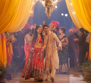 "(l-r) Tina Desai as ""Sunaina"" and Dev Patel as ""Sonny"" in THE SECOND BEST EXOTIC MARIGOLD HOTEL. ©20th Century Fox. CR: Laurie Sparham"