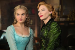 (l-r) Lily James is Cinderella and Cate Blanchett is the Stepmother in Disney's live-action feature CINDERELLA. ©Disney Enterprises. CR: Jonathan Olley.