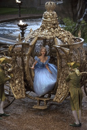 Lily James is Cinderella in Disney's live-action feature inspired by the classic fairy tale, CINDERELLA,. ©Disney Enterprises. CR: Jonathan Olley.