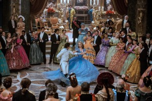 (center) Lily James is Cinderella and Richard Madden is the Prince in Disney's live-action feature inspired by the classic fairy tale, CINDERELLA. ©Disney Enterprises. CR: Jonathan Olley.