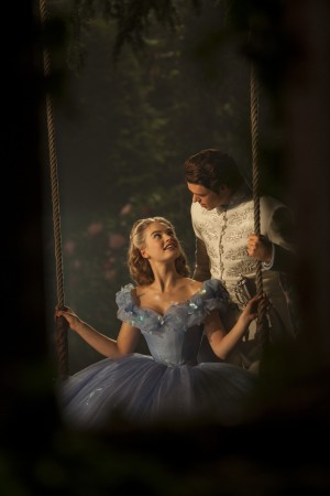Lily James is Cinderella and Richard Madden is the Prince in Disney's live-action CINDERELLA,. ©Disney Enterprises. CR: Jonathan Olley.