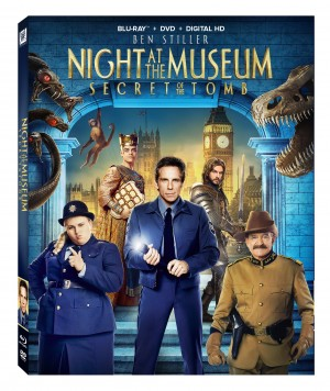 NIGHT AT THE MUSEUM: SECRET OF THE TOMB (Blu-ray /DVD art). ©20th Century Fox Home Entertainment.