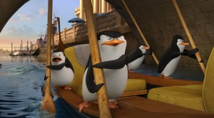 Left to Right: Private (voiced by Christpher Knights), Skipper (voiced by Tom McGrath), Rico, Kowalski (voiced by Chris Miller) in THE PENGUINS OF MADAGASCAR. ©Dreamworks Animations LLC.