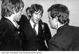 THE WHO with Chris Stamp at left. Pete Townshend and Kit Lambert at Windsor Jazz Festival in 1966. ©PictorialPress.com