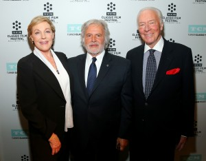 (L-R) Actress Julie Andrews, First Vice President of the Academy of Motion Picture Arts and Sciences Sid Ganis and actor Christopher Plummer attend the Opening Night Gala and screening of The Sound of Music during the 2015 TCM Classic Film Festival on March 26, 2015 in Los Angeles, California. ©Mark Davis/WireImage.