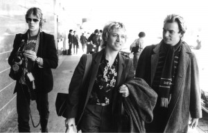 Stewart Copeland, Andy Summers and Sting (l-r), of The Police in a tour. ©Watal Asanuma