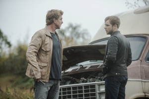 (l-r) Kenny Johnson as Caleb, Max Theiriot as Dylan Massett star in BATES MOTEL. ©NBCUniversal Media. CR: Cate Cameron/NBC.
