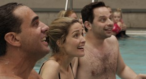 Bobby Cannavale, Rose Byrne, and Nick Kroll in ADULT BEGINNERS. ©Radius.