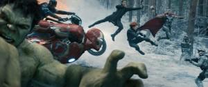 (l-r) Hulk (Mark Ruffalo), Captain America (Chris Evans), Iron Man (Robert Downey Jr.), Hawkeye (Jeremy Renner), Black Widow (Scarlett Johansson), and Thor (Chris Hemsworth) in MARVEL'S AVENGERS: AGE OF ULTRON. ©Marvel. Ph: Film Frame ©Marvel 2015