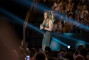 Jennifer Lopez receives the Hero Award during the 2015 Radio Disney Music Awards held at the Nokia Theatre in Los Angeles, CA on Saturday, April 25, 2015. ©Disney/mage Group LA.