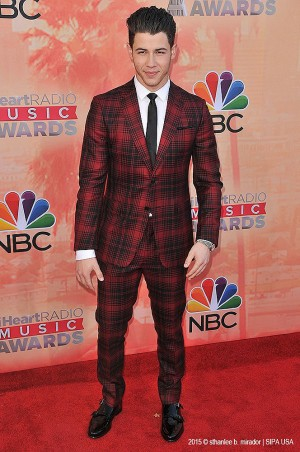 Nick Jonas on the red carpet of iHeartRAdio Music Awards. ©Sthanlee Mirador.