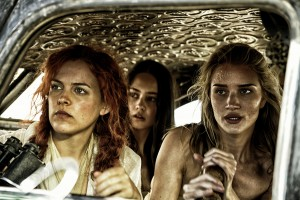 RILEY KEOUGH as Capable (Brainy), COURTNEY EATON as Fragile (Cheedo), ROSIE HUNTINGTON-WHITELEY as Splendid (Angharad) in MAD MAX: FURY ROAD. ©Warner Bros. Entertainment. CR: Jasin Boland.