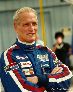 Paul Newman the spotlighted in Adam Carolla's documentary WINNING: THE RACING LIFE OF PAUL NEWMAN. ©Bob Sharp.
