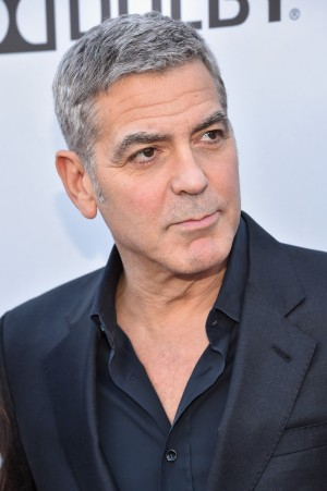 George Clooney at the TOMORROWLAND premiere. Clooney recently produced the film OUR BRAND IS CRISIS. ©Alberto Rodriguez/Getty for Disney.