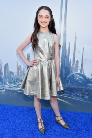 "Actress Raffey Cassidy attends the world premiere of Disney's ""Tomorrowland"" at Disneyland. ©Getty Images/Disney. CR: Alberto E. Rodriguez."