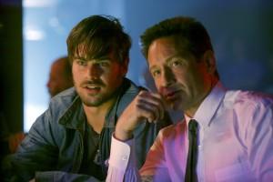 (l-r) Grey Damon as Brian Shafe, David Duchovny as Sam Hodiak in AQUARIUS. ©NBC Universal. CR: Vivian Zink.