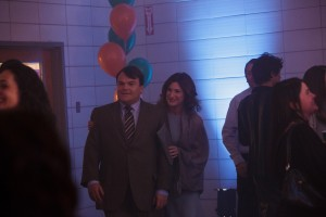 Jack Black (Dan Landsman) and Kathryn Hahn (Stacey Landsman) in Jarrad Paul and Andrew Mogel's THE D TRAIN. ©IFC Films.
