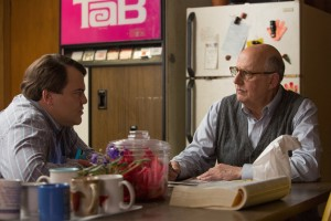 Jack Black (Dan Landsman) and Jeffrey Tambor (Bill Shurmur) in Jarrad Paul and Andrew Mogel's THE D TRAIN. ©IFC Films. CR: Hilary Bronwyn Gayle.