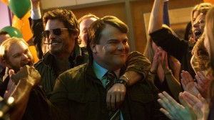 James Marsden (Oliver Lawless) and Jack Black (Dan Landsman) in Jarrad Paul and Andrew Mogel's THE D TRAIN. ©IFC Films. CR: Hilary Bronwyn Gayle.
