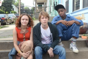 "(l-r) Olivia Cooke as ""Rachel,"" Thomas Mann as ""Greg,"" and RJ Cyler as Earl in ME AND EARL AND THE DYING GIRL. ©20th Century Fox. CR: Anne Marie Fox."