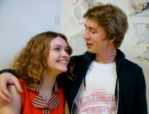 "Olivia Cooke as ""Rachel"" and Thomas Mann as ""Greg"" in ME AND EARL AND THE DYING GIRL. ©20th Century Fox. CR: Anne Marie Fox."