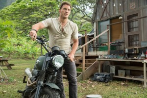 Chirs Pratt stars as Owen in JURASSIC WORLD. ©Uuniversal Studios/Amblin Entertainment. CR: Chuck Zlotnick.