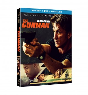 THE GUNMAN. (Blu-ray/DVD Artwork). ©Universal Studios.