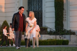 (l-r) John Cusack stars as the older Brian Wilson and Elizabeth Banks as Melinda Ledbetter in LOVE & MERCY. ©Roadside Attractions. CR: Francois Duhamel.