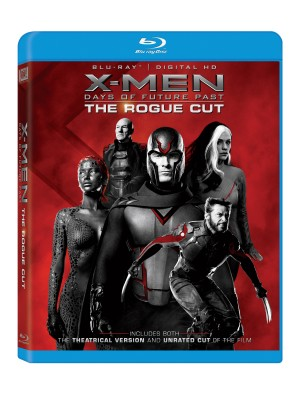 X-MEN DAYS OF FUTURE PAST: THE ROGUE CUT. (Blu-ray/DVD artwork). ©20th Century Fox.