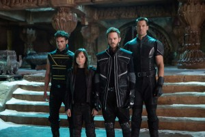 (L-R): Sun Spot (Adan Canto), Kitty Pryde (Ellen Page), Iceman (Shawn Ashmore) and Colossus (Daniel Cudmore) prepare for an epic battle to save their kind in X-MEN DAYS OF FUTURE PAST: THE ROGUE CUT. ©20th Century Fox. CR: Alan Markfield.