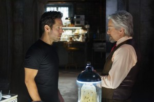 (l-r) Scott Lang/Ant-Man (Paul Rudd) and Hank Pym/Ant-Man (Michael Douglas) in MARVEL'S ANT-MAN. ©Marvel. CR: Zade Rosenthal.
