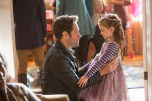 (l-r) Ant-Man/Scott Lang (Paul Rudd) and Cassie (Abby Ryder Fortson) in MARVEL'S ANT-MAN. ©Marvel. CR: Zade Rosenthal.