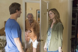 (l-r) Nat Faxon as Russ, M.C. Gainey as Ed, Judy Greer as Lina in MARRIED. ©FX Networks. CR: Prashant Gupta/FX