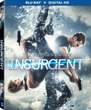 THE DIVERGENT SERIES: INSURGENT. (Blu-ray DVD Artwork). ©Lionsgate Home Entertainment.