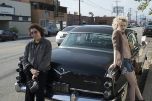 (l-r) Lily Tomlin as Elle and Julia Garner as Sage in GRANDMA. ©Sony Pictures Classics. CR: Glen Wilson.