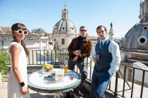 (l-r) Alicia Vikander as Gaby, Armie Hammer as Ilya and Henry Cavill as Napoleon in THE MAN FROM U.N.C.L.E.. ©Wanrer Bros. Entertainment. CR: Daniel Smith.