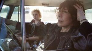 (l-r) Julia Garner as Sage and Lily Tomlin as Elle in GRANDMA. ©Sony Pictures Classics. CR: Aaron Epstein.