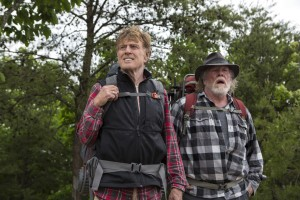 (l to r) Robert Redford stars as Bill Bryson and Nick Nolte as Stephen Katz in Broad Green Pictures upcoming release, A WALK IN THE WOODS. ©Broad Green Pictures. CR: Frank Masi / Broad Green Pictures