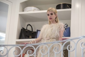 "Emma Roberts as Chanel Oberlin in the ""Chainsaw"" episode of SCREAM QUEENS. ©2015 Fox Broadcasting Co. Cr: Skip Bolen/FOX."